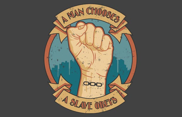 A Man Chooses T-Shirt