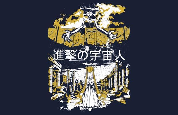 Attack on Moon - Alien Advance T-Shirt