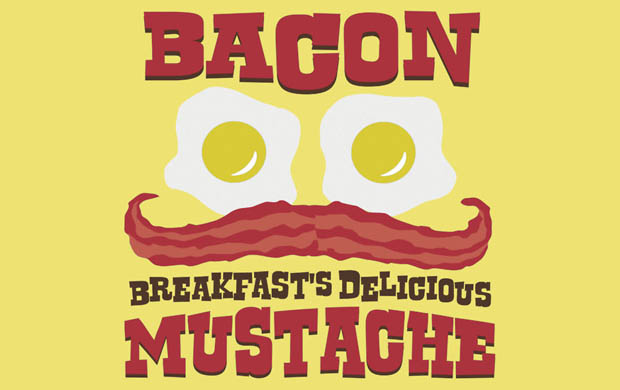 Bacon Breakfasts Delicious Mustache T-Shirt