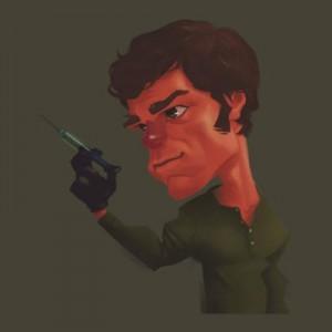 Dexter Caricature T-Shirt
