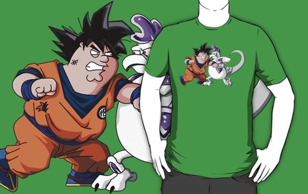 Family Guy Z Goketer vs Cheeza T-Shirt