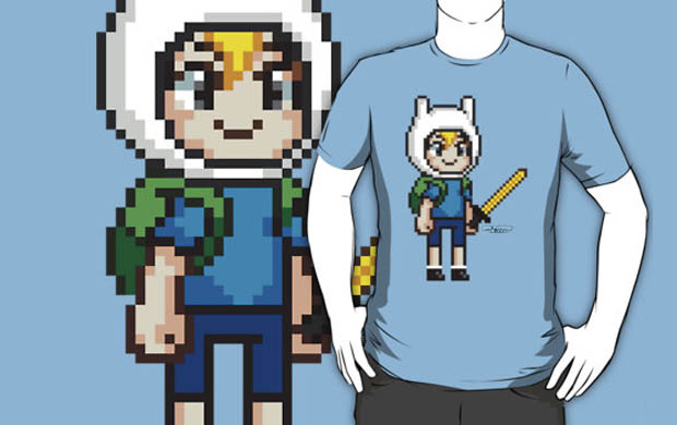 Finn the Human Pixel T-Shirt
