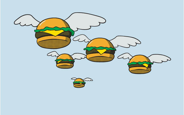 Flying Burgers T-Shirt