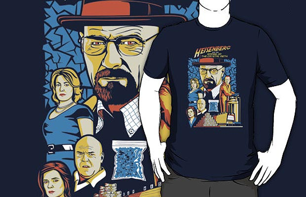 Heisenberg and the Empire of the Crystal Meth T-Shirt