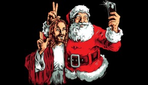 Jesus and Santa BFF Selfie T-Shirt