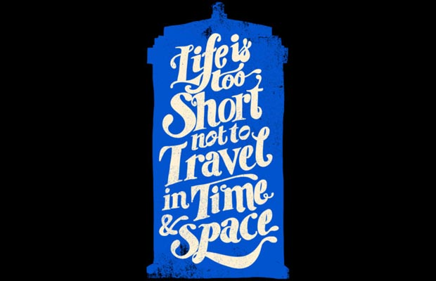 Life is Too Short- TARDIS T-Shirt