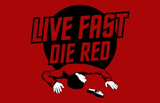 Live Fast Die Red T-Shirt
