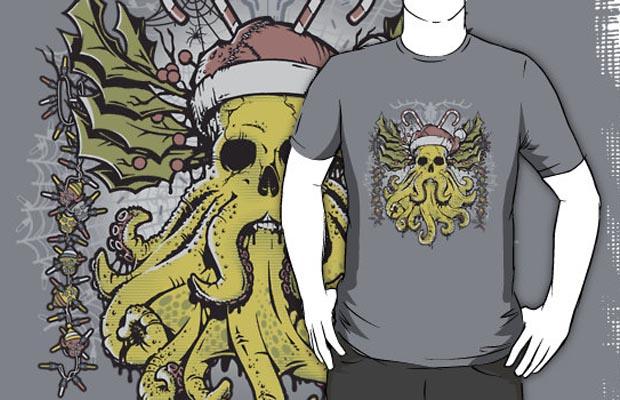 Merry Cthulhumas T-Shirt