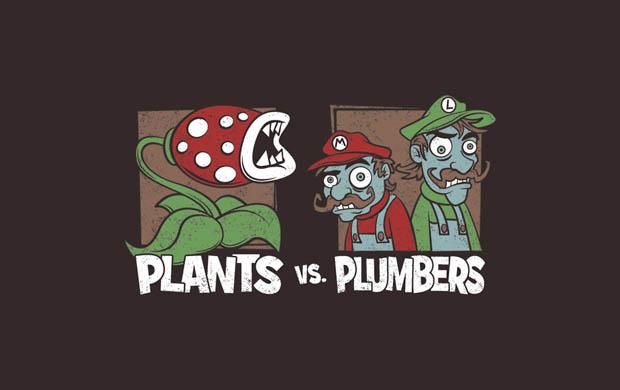 Plants Vs Plumbers T-Shirt