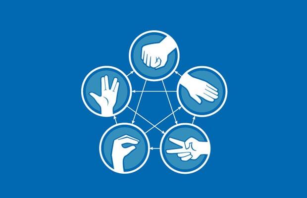 Rock Paper Scissors Lizard Spock graph T-Shirt