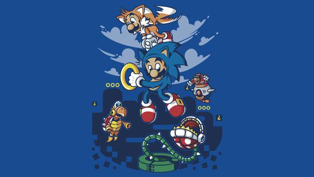 Super Sonic Bros Tee Shirt