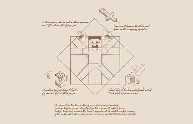 Vitruvian Minecraft T-Shirt