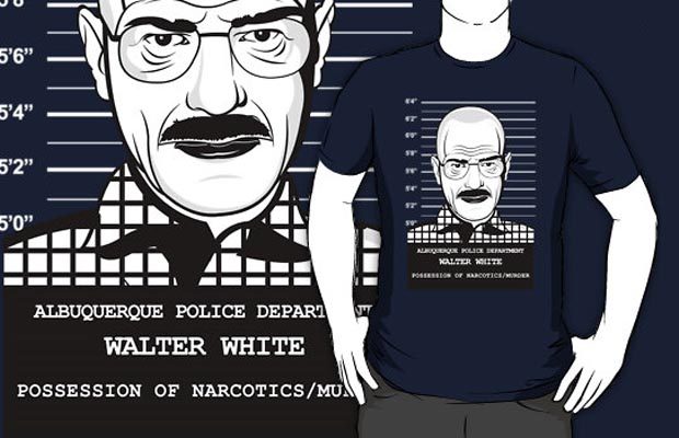Walter White Mug Shot T-Shirt