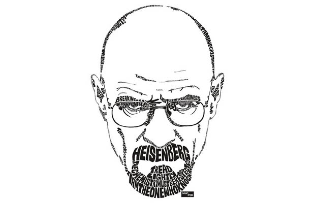 Walter White aka Heisenberg Typography T-Shirt