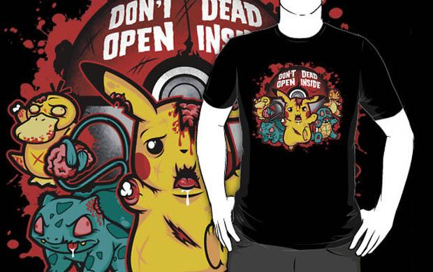 Zombiemon Dead Inside T-Shirt