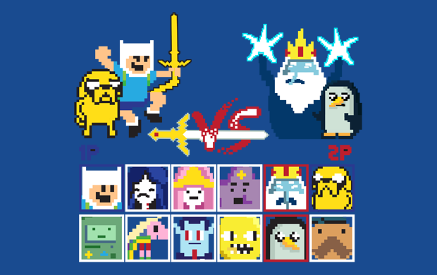 adventure time fighter t-shirt